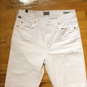 Citizens of Humanity White Jeans Sz 27